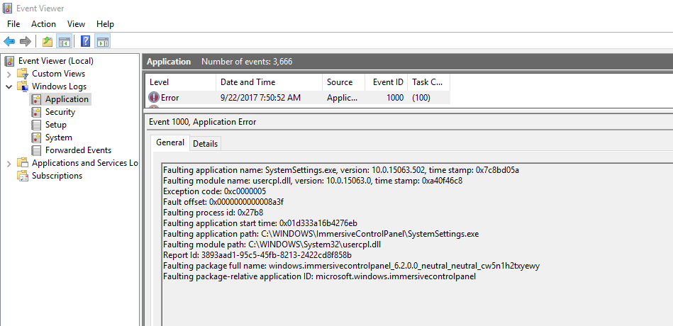 SystemSettings exe Crashes windows 10 - sccmf12twice com